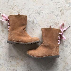 Ugg's Toddler Girls Corene Chestnut Suede Boot 11